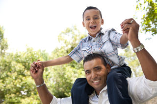 Photo of young boy with dad